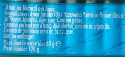 Atum ao natural - Ingredients