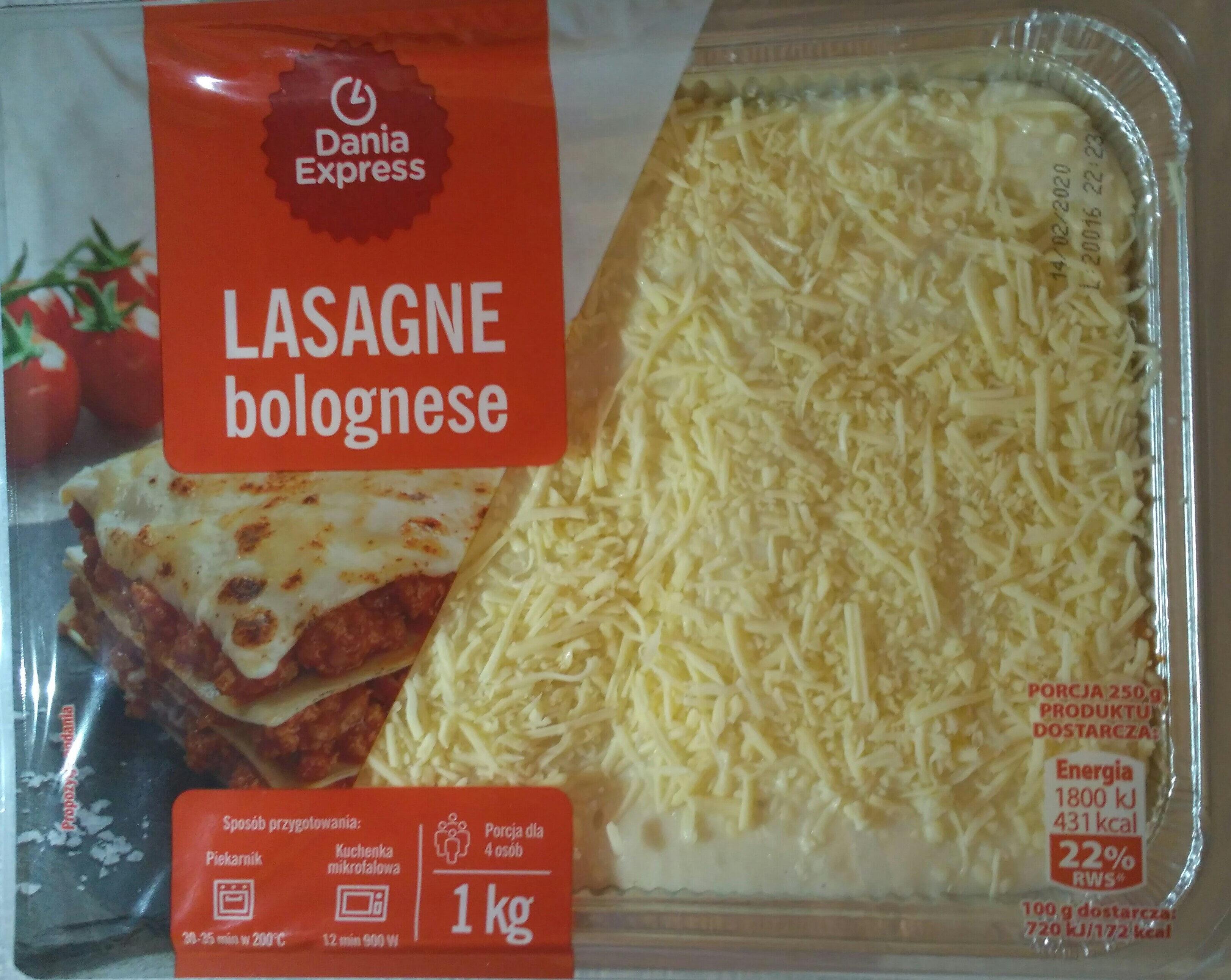 Lasagne bolognese - Produkt - pl