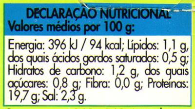 Peito de peru com ervas fatias finas - Voedingswaarden