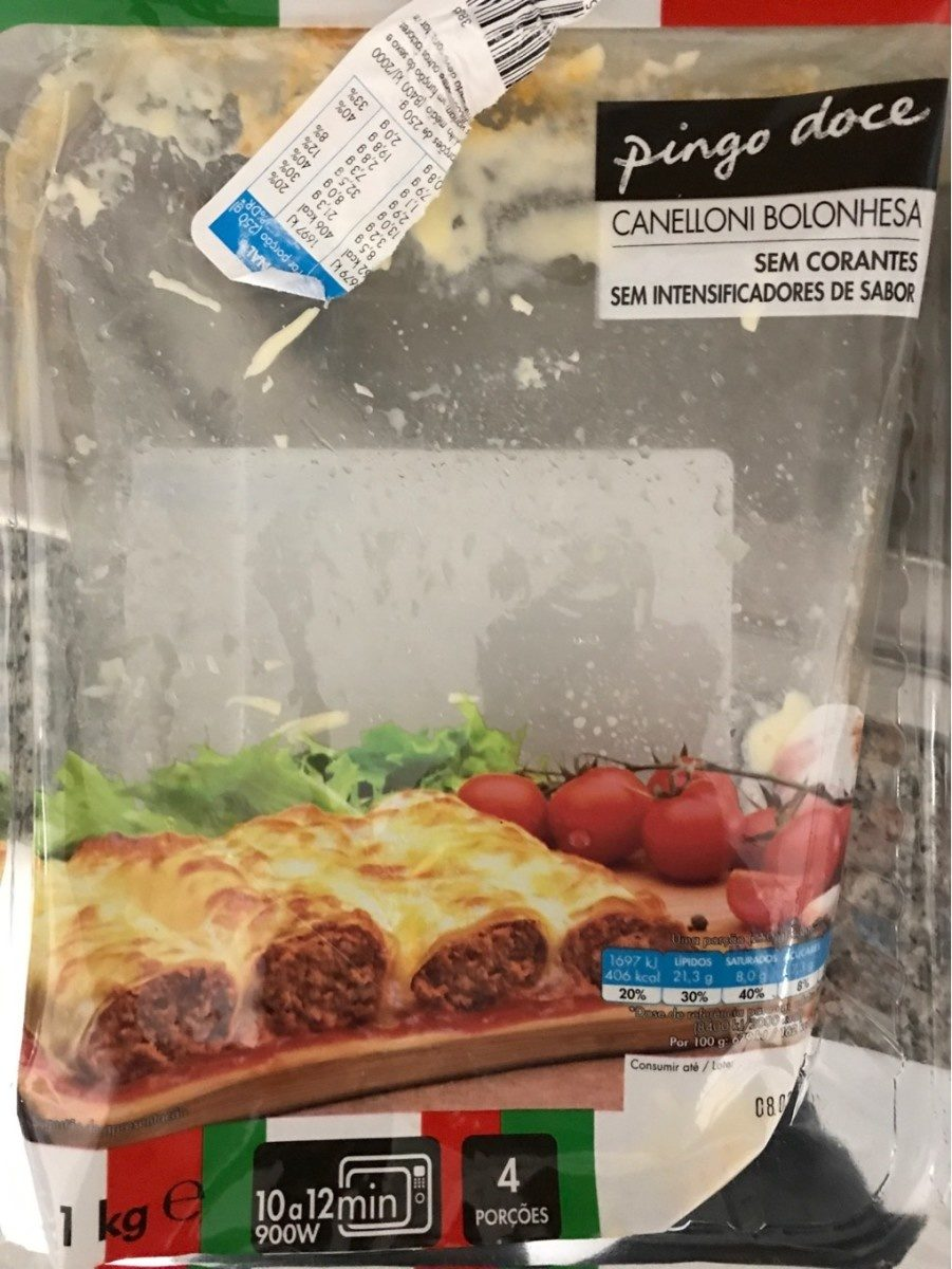 Canelloni bolonhesa - Produit