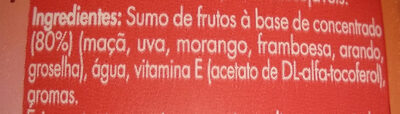 AntiOx Frutos vermelhos - Ingredients - pt