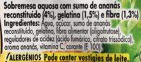Gelatina ananas - Ingredients