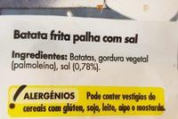 Batata frita palha - Ingredients - fr