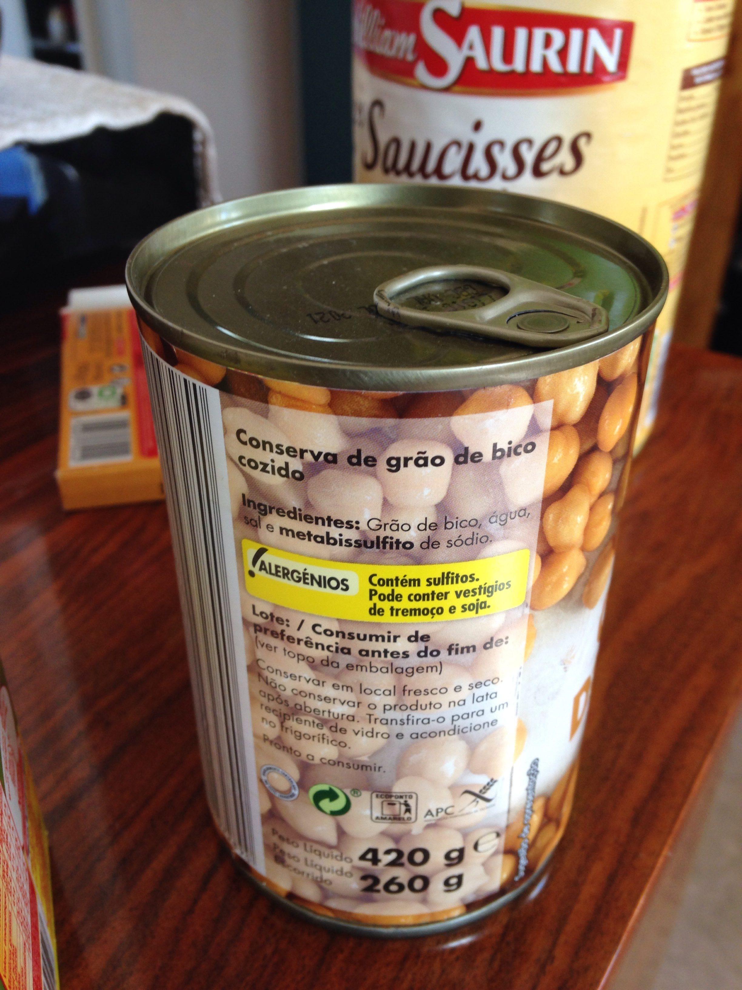 Grao de bico (pois chiche) - Ingrediënten