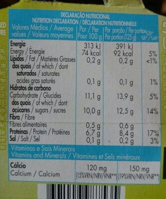 Grego Zero % Lima Limão - Nutrition facts