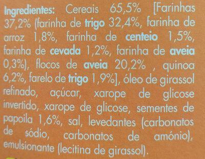 Quinoa & cereais - Ingredientes - pt