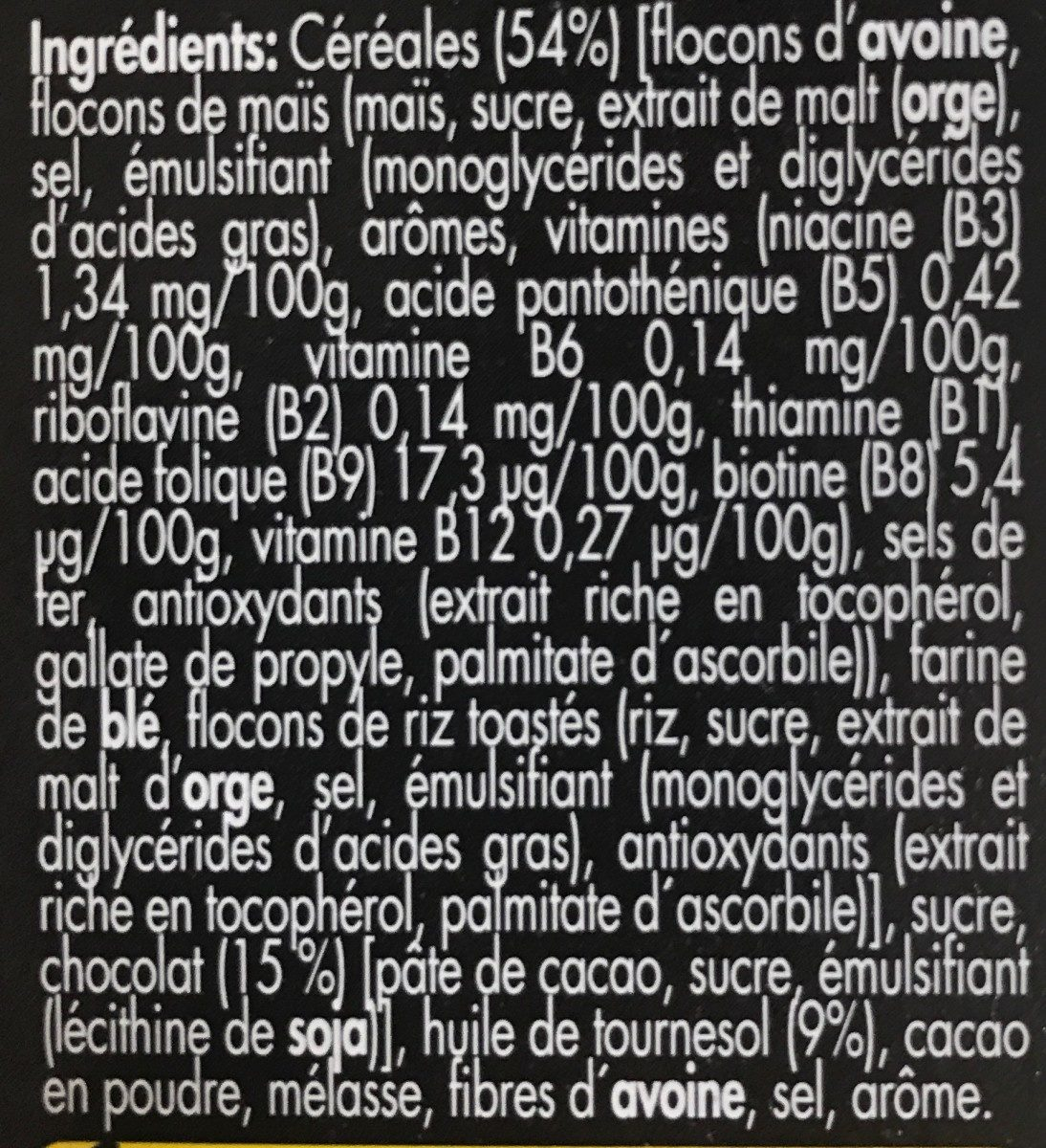 Crunchy Muesly Chocolate - Ingredients - fr