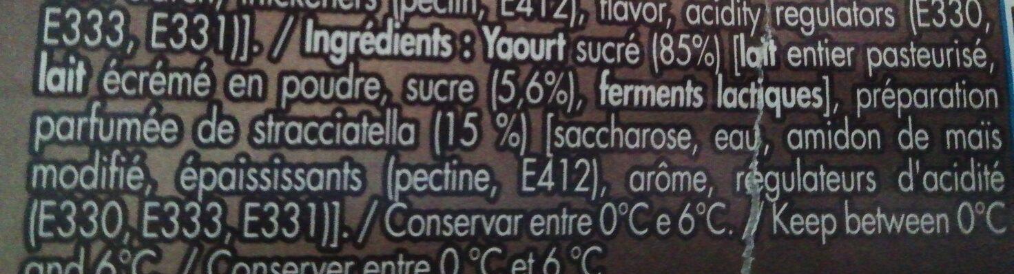 Iogurt grego straciatella - Ingrédients - fr