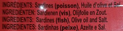 Sardines à l'huile d'olive - Ingrediënten