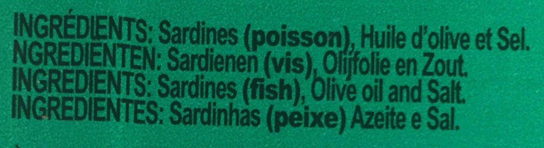 Sardines sans peau et sans arêtes - Ingrédients