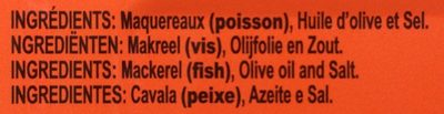 Filets de maquereaux - Ingrédients