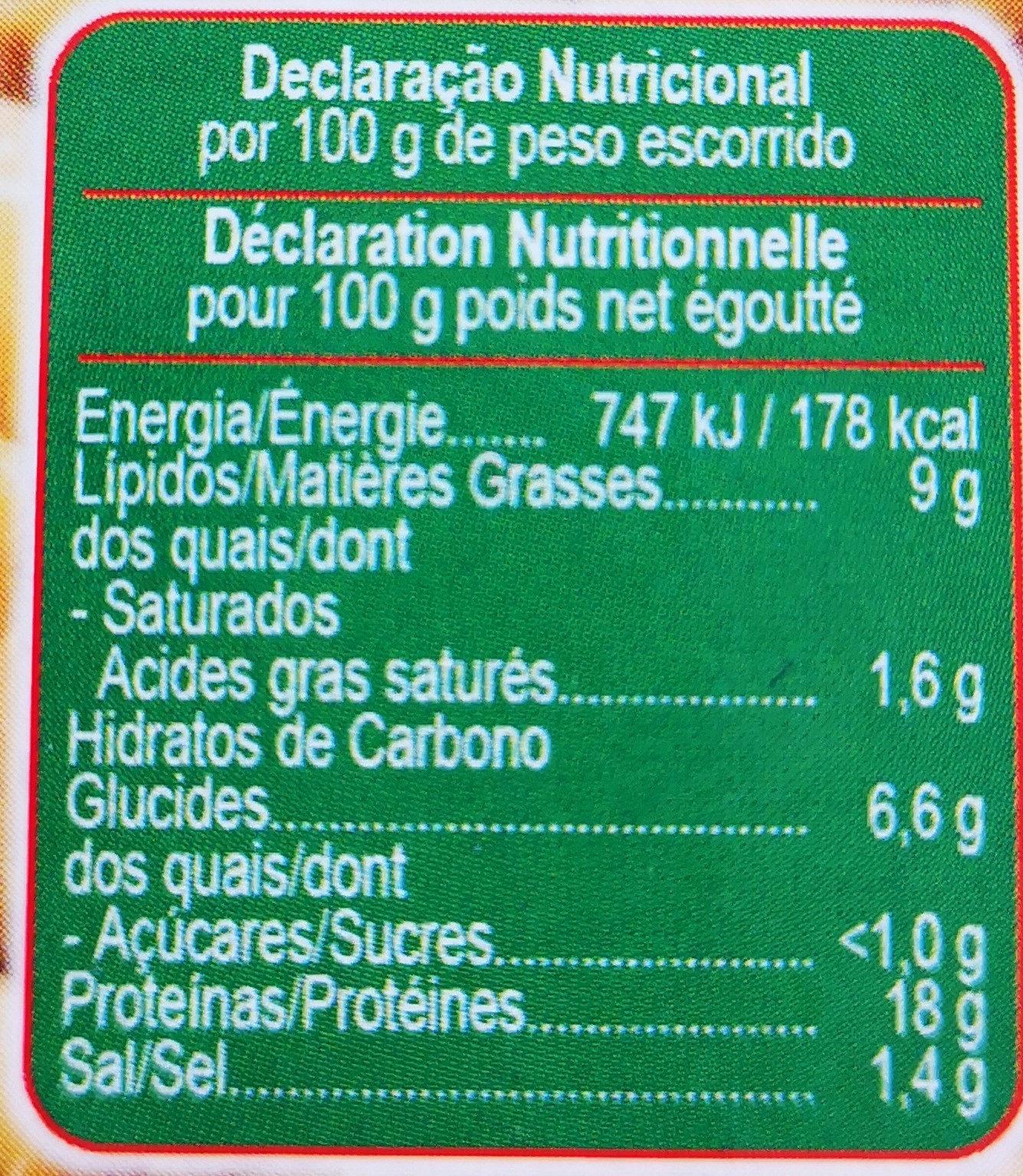 Morue aux pois chiches - Informations nutritionnelles - fr