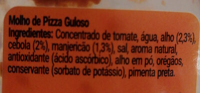 molho de pizza o pizzaiollo - Ingrédients - pt