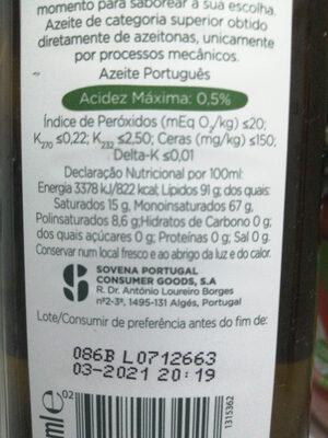 Oliveira da seira - Ingrédients