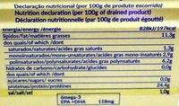Atum em posta - em óleo vegetal - Nutrition facts