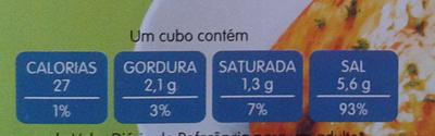 Caldo de peixe - Informação nutricional