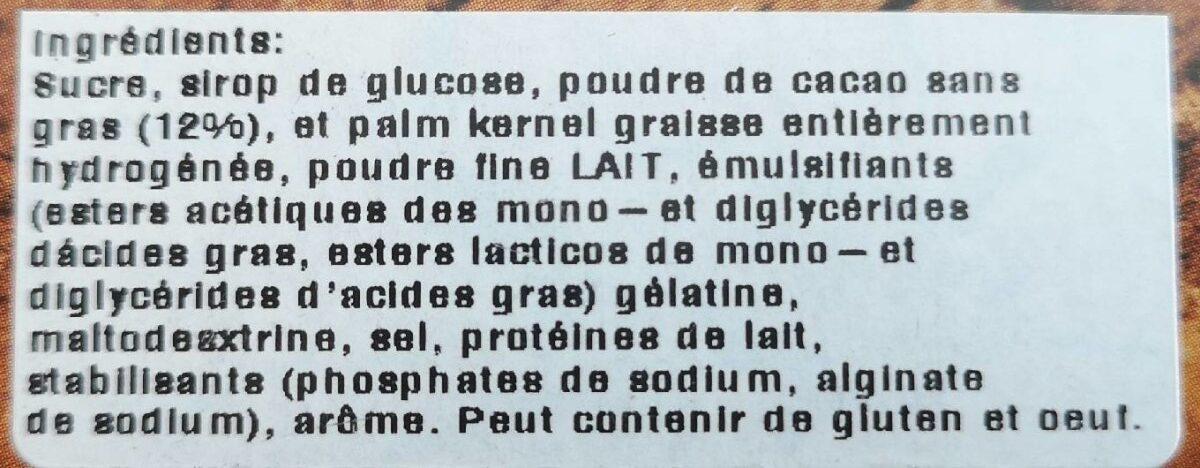 Alsa mousse chocolate de leite - Ingredients