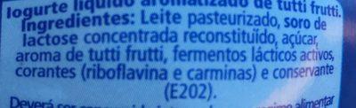 Iogurte Danone Liquido Frutos Tropicais - Ingrédients - fr