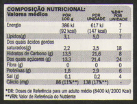 DanUp very strawberry - Nutrition facts - pt