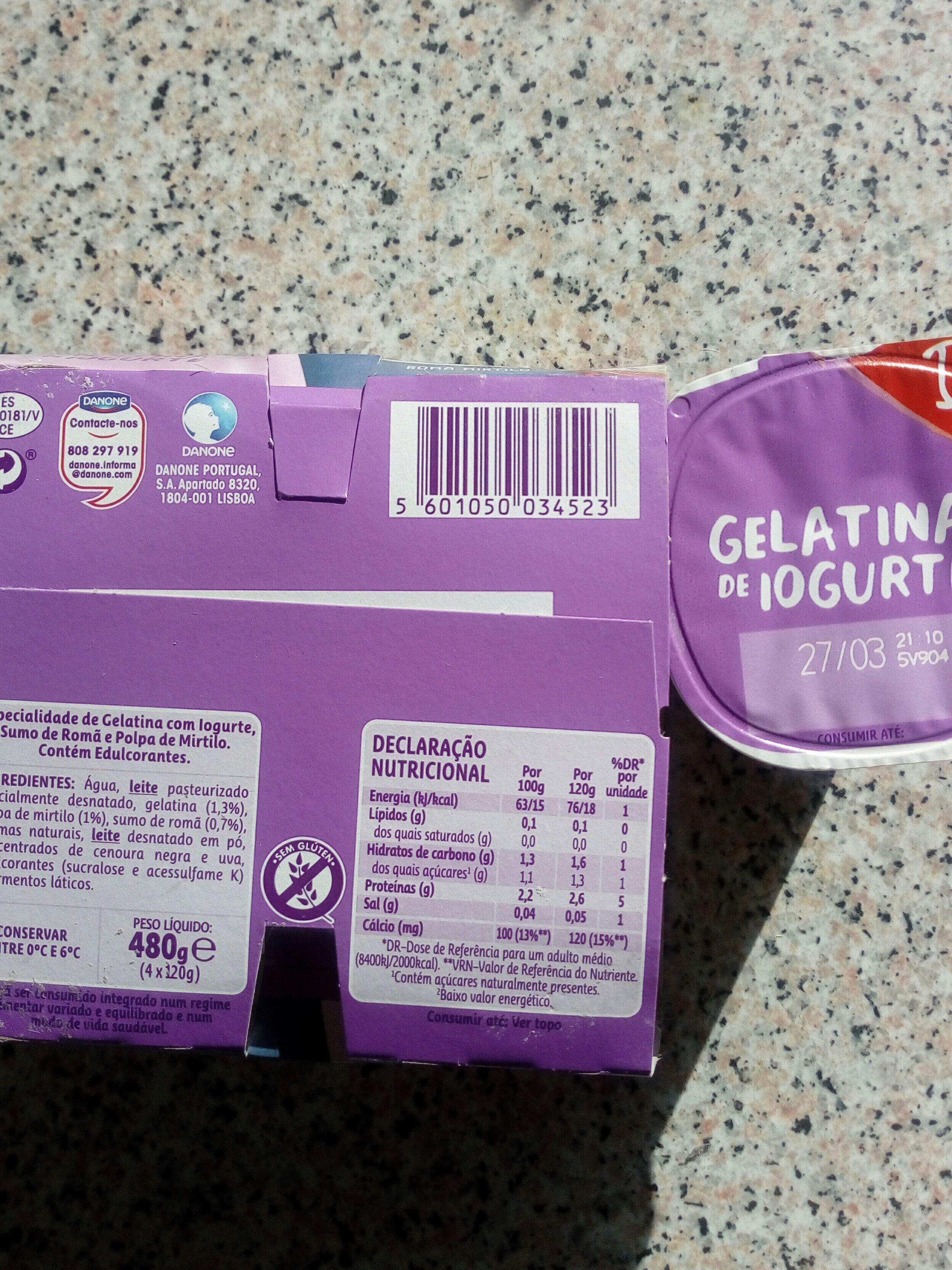 gelatina de iogurte - Product - pt