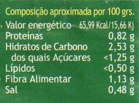 Tomate pelado - Nutrition facts - pt
