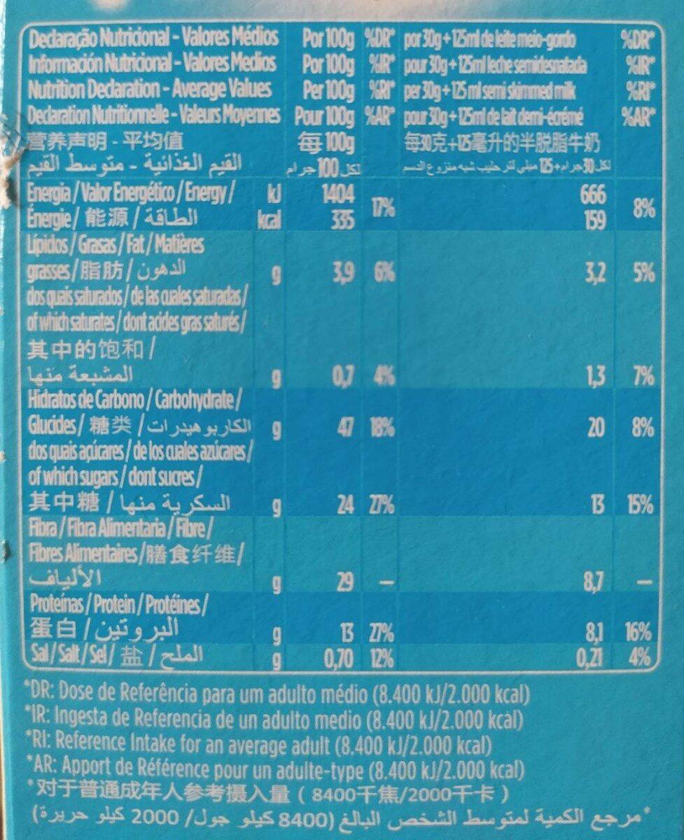+ Fibra Total - Nutrition facts - pt