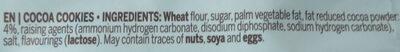 Cocoa Cookies - Ingredients - en