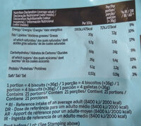 Cocoa Cookies - Nutrition facts - es
