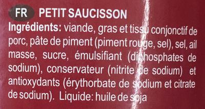 Chouriço de Carne Corrente - Ingrédients - fr