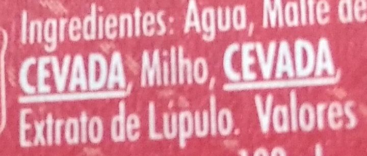Cerveja mini - Ingredients - pt