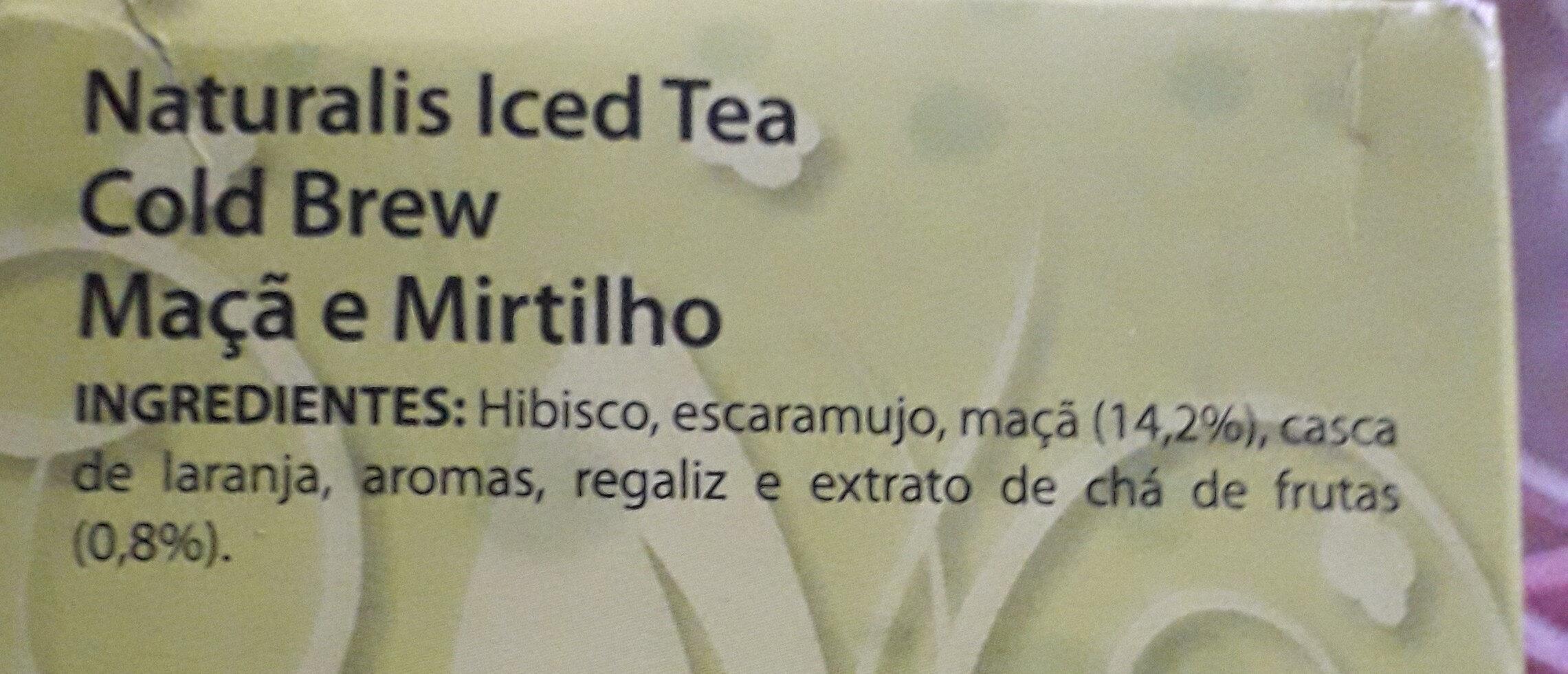 iced tea - Ingredients - fr