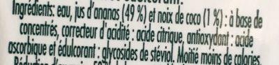 Néctar de ananás e coco - Ingrédients - fr