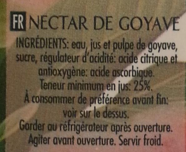 Clássico Néctar Goiaba - Ingredients
