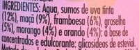 Frutos vermelhos - Ingredientes - pt