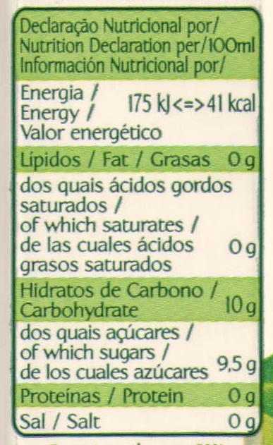 Compal Clássico Tutti Frutti - Informação nutricional
