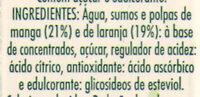 Vital Mangue Orange - Ingredientes