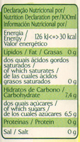 Vital Mangue Orange - Informação nutricional