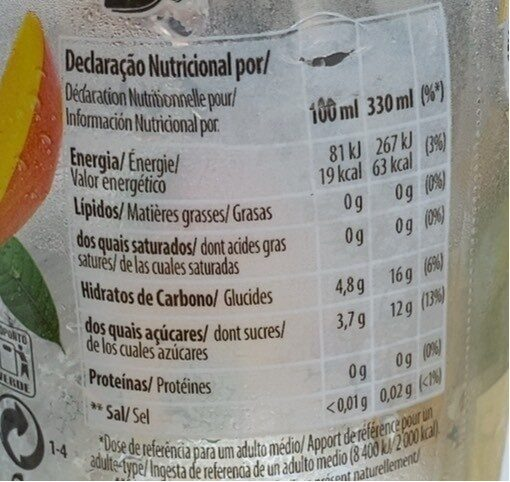 B ice drinks - Informations nutritionnelles - fr
