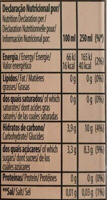 Fruits rouges - Voedingswaarden - fr