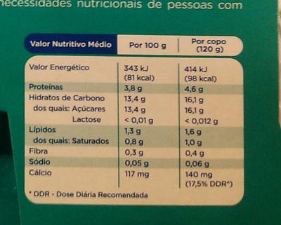 Nutrégi Morango - Informação nutricional
