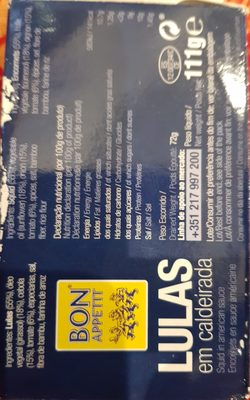 Lulas em caldeirada - Ingredients