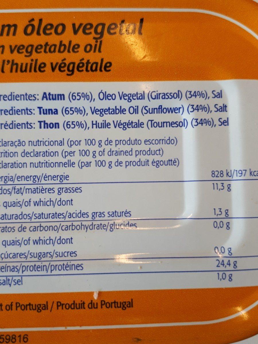 Solid Tuna In Vegetable Oil - Ingredients