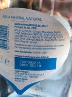 Agua mineral natural - Ingredients