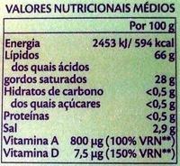 Vaqueiro - Nutrition facts - pt
