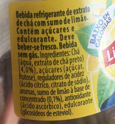 Ice tea limão - Ingredients