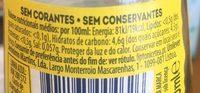 Ice tea limão - Nutrition facts - fr