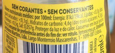 Ice tea limão - Nutrition facts
