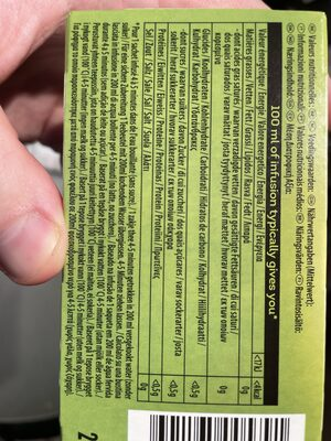 LIPTON CAMOMILE INFUSION - Nutrition facts - en