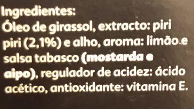 Calvé Piri piri - Ingredients