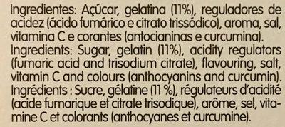 Gelatina Amanhecer Morango - Ingrédients - fr